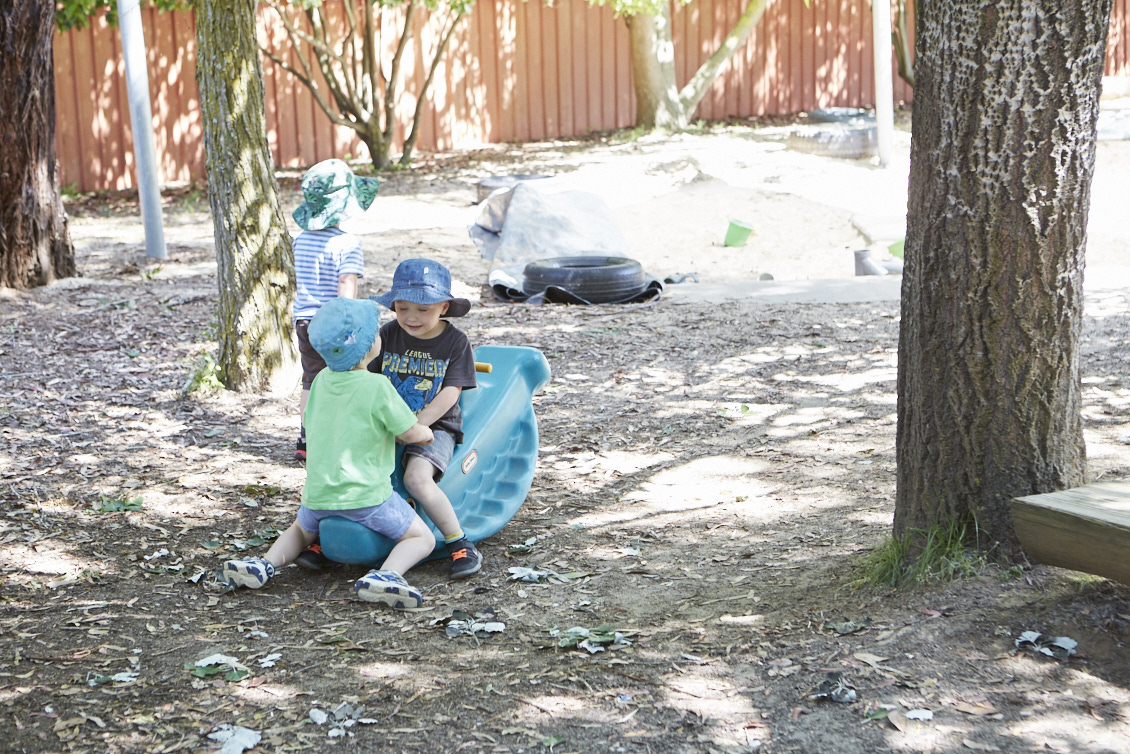 Children in outdoor play area at Milestones Bungendore