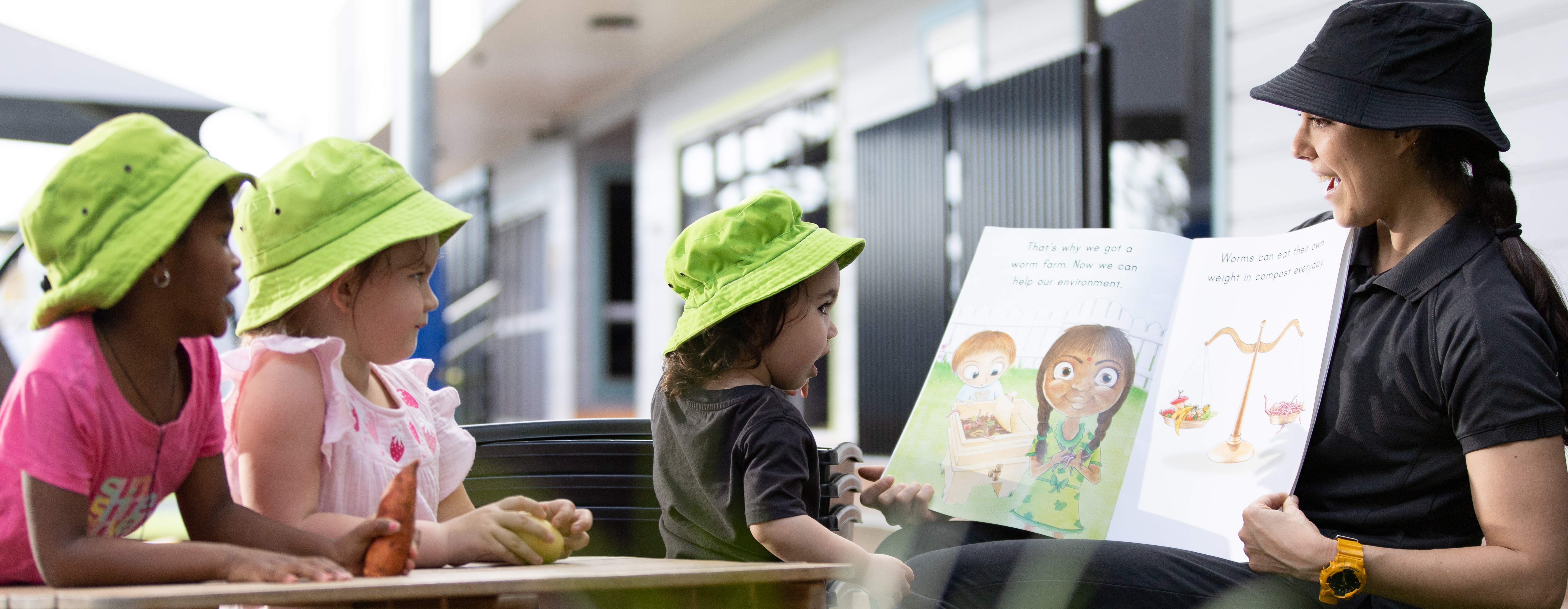 Children drawing in classroom at Milestones Bungendore